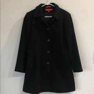 Anne Klein Black Wool Coat Size S